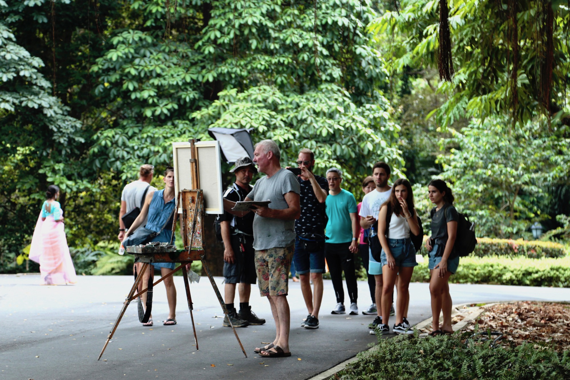 Gerard Byrne_painting_Bandstand_Weekend_Vibes_Singapore Botanic_Gardens_2019_DFA_Asia_Pacific_Strategy_2025
